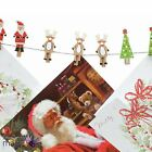 *12 Pegs Festive Christmas Card Holder Traditional Xmas Hanging Home Decoration*