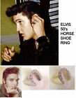 ELVIS 50's HORSESHOE RING STAGE RING MULTI COLOR WITH CZ