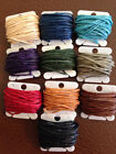 12 ply Crawford IRISH Waxed Linen Cord 1.4 mm Natural Blue Brown Red Black Green