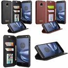 For Moto Z Force Droid G4 Plus PU Leather Flip Wallet Case Cover Stand