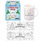 COLOUR YOUR OWN CHRISTMAS XMAS MUG CUP - ART STOCKING FILLER TOY GIFT W41 113