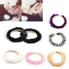 1 Pair Exaggerated Round Hairy Earring Charm Alloy Ear Stud Women Gift Colorful