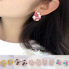 Elegant Flower Pearl 1 pair Women Lady Rhinestone Ear Stud Earrings Fashion