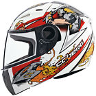 Caberg V-Kid Warrior Kids Full Face Motorcycle Helmet - white red xxxs