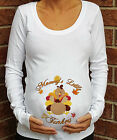 MOMMY'S LITTLE TURKE THANKSGIVING MATERNITY SHIRT HUMOR PREGNANCY T-SHIRT