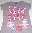 New Shoppies Shopkins shirt girls size 4/5 6/6X 7/8 10/12 14/16 Shoppies