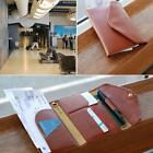 Portable New PU Leather Credit Card Case Travel Passport Holder Bag Purse Wallet