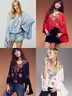 SIREN SONG Embroidered Peasant Top Blouse Shirt Boho People Bohemian Free Hippie