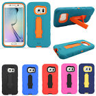 For Samsung Galaxy S7 / S7 Edge IMPACT Hard Rubber Kickstand Case Phone Cover