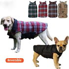 Dog Puppy Jacket Winter Coat - Reversible - Checker Plaid - XS - XXXL