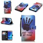Magnetic Open PU Leather Wallet TPU Gel Case Cover Card Holder Stand for Samsung