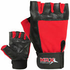 Men & Women Weight Lifting Gloves Gym Fitness Training MRX Genuine Leather Glove