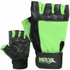 MRX Weight Lifting Gloves Fitness Genuine Leather Gym Training Glove MEN & WOMEN