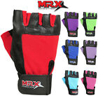 Weight Lifting Gloves Men & Women Fitness Gym Training Genuine Leather Brand MRX
