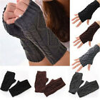 Unisex Men Women Arm Warmer Fingerless Knitted Long Gloves Cute Mittens Fashion