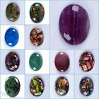 40mm Large Oval cabochon CAB flatback semi-precious gemstone Pick ur stone