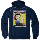 Betty Boop Cartoon Betty The Riveter Wink Adult Pull-Over Hoodie $41.95 USD on eBay
