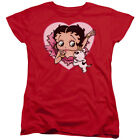 Betty Boop 30's Cartoon Betty And Pudgy Women's T-Shirt Tee $25.95 USD