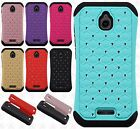 For Alcatel Ideal HYBRID IMPACT Hard Dazzling Diamond Case Phone Cover Accessory