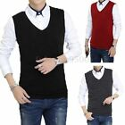 5 Colors Men Sleeveless Knitted Vest Crew Neck Pullover Casual Vest Sweater Cami