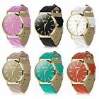Fashion Women Casual Faux Leather Band Wrist Watch Classic Quartz Dress Watches