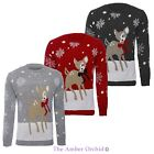 Womens Ladies Xmas Plus Sizes Jumper Novelty Bambi Deer Christmas Sweater