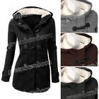 Women's Winter Cotton Wool Blend Coat Claw Button Thicken Warm Jacket Outwear