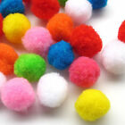 5 Sizes 100pcs  Pom Poms Soft Fluffy Balls Felt Card Embellishments Kids Pompoms