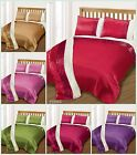 Luxury 2 Tone Duvet Cover Bedding Set Single Double King All Colours Red Cream
