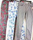 New With Tags SO Floral Skinny Twill Jeans Pants-Juniors Sz-(0,1,7,9,)Stretchy