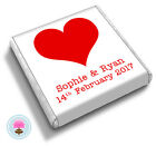 Personalised HEART Love Valentines Romance Wedding Favour Chocolates
