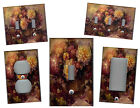 VICTORIAN FLORAL PURPLE BURGUNDY HOME WALL DECOR LIGHT SWITCH PLATE