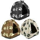 Dog Cat Warm Fleece Winter Bed Igloo House Soft Luxury Basket For Pets Puppy