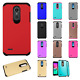 For ZTE Warp 7 HARD Astronoot Hybrid Rubber Silicone Case Cover +Screen Guard
