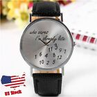 Fashion New Women's Men's Funny Comment Wrist Watches, Who Cares Im Already Late