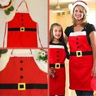Hot! Christmas Decoration Santa Apron Home Kitchen Cooking Baking Chef Red Apron