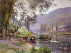 Poster / Leinwandbild At the River's Edge - Emile Isenbart