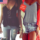 Fashion Women Summer Vest Top Sleeveless Shirt Blouse Casual Tank Top T-Shirt