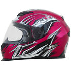AFX FX-120 Multi Color full face Motorcycle Riding Helmet Fucshia