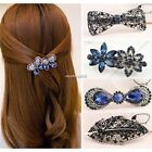 Fashion Women's Rhinestone Flower Metal Hair Pin Barrette Hairpin Clip N4U8