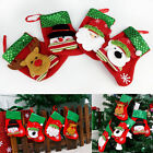 Xmas Tree Hanging Ornament Christmas Party Decor Santa Claus Sock Candy Bag