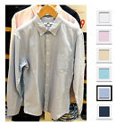 UNIQLO Men OXFORD SLIM FIT LONG SLEEVE SHIRT White Gray Pink Blue NEW 172926