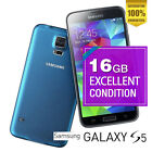 Samsung Galaxy S5 4G 16GB SM-G900V 16MP Blue Android Phone 100% Unlocked