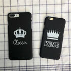 KING QUEEN COUPLE CROWN HARD THIN MATTE BACK COVER PHONE CASE FOR IPHONE 7 PLUS