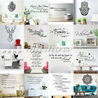Family DIY Art Vinyl Quote Wall Stickers Decal Mural Home Kids Decor Words New