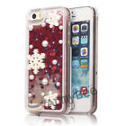 Snowflake Christmas Case Cover Luxury Bling Glitter Flowing Liquid Design