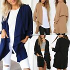 Women Chiffon Coat Waterfall Jacket Blazer Casual Cardigan Cape Tops Kimono N4U8