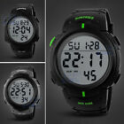 Mens Fashion Waterproof Digital Sports Watch Army Military Wristwatch Skmei