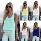 HOT SEXY Women Sleeveless Tank Tops Cami T-Shirt Summer vest Crop Top Blouse