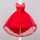 Flower Girl Dress Kids Birthday Wedding Pageant Bridesmaid Gown Formal Dresses